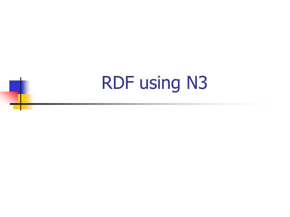 RDF using N3