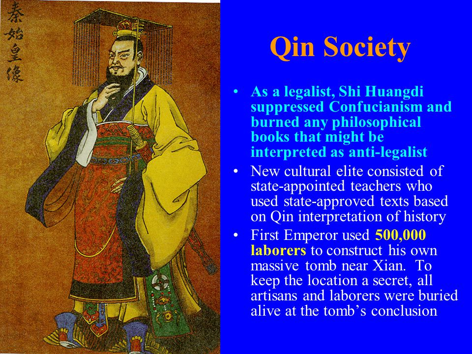 , was the Chin Emperor more influenced by Confucian or Legalist ideals?