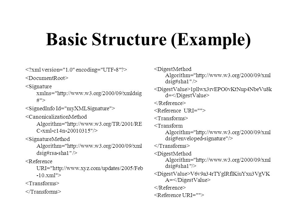 Basic Structure (Example) 1pllwx3rvEPO0vKtNup4NbeVu8k d= V6v9a34rTYglRflKiuYxu3VgVK A=