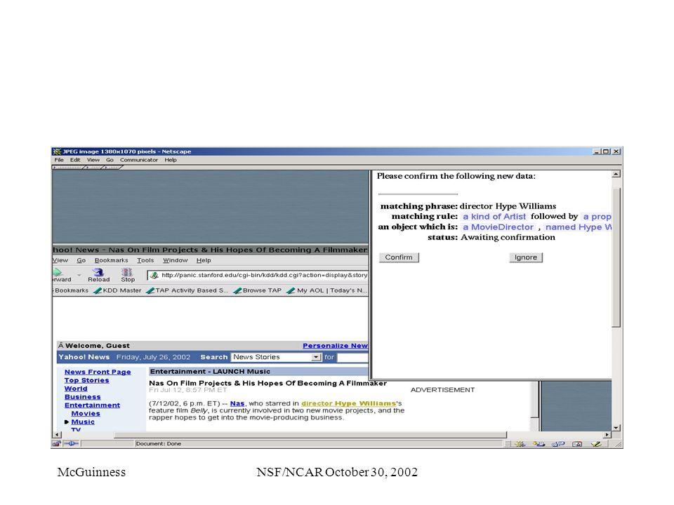 McGuinnessNSF/NCAR October 30, 2002