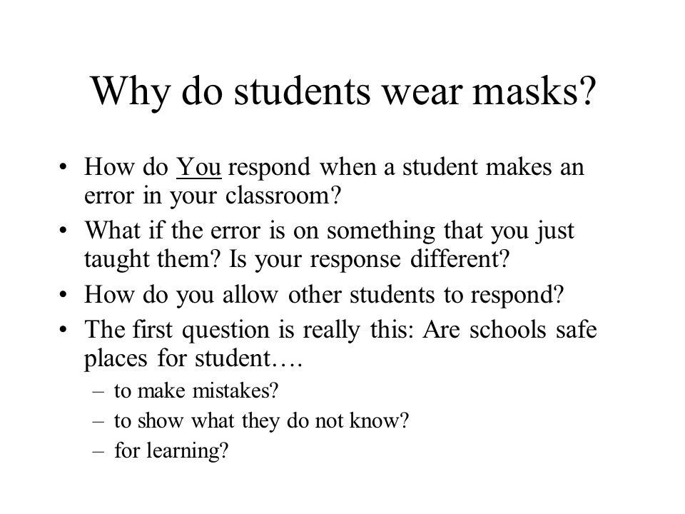 Why do People Wear Masks. To hide the true self.