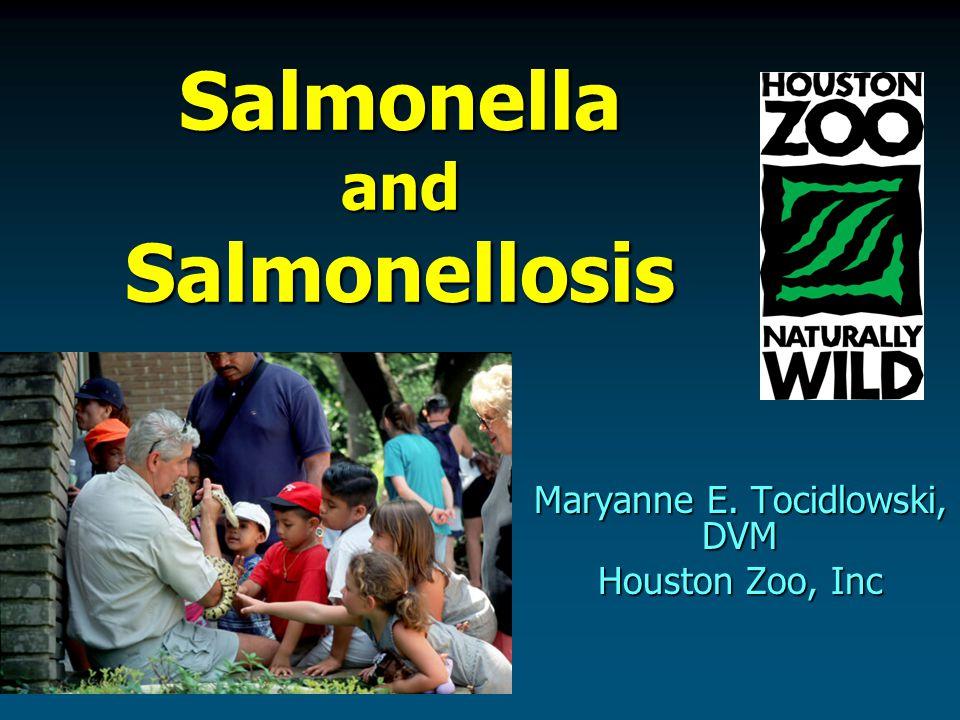 Salmonella and Salmonellosis Maryanne E. Tocidlowski, DVM Houston Zoo, Inc