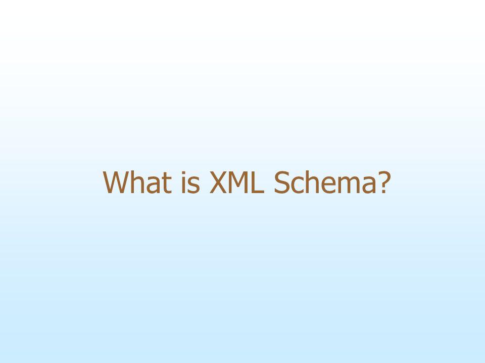 What is XML Schema?