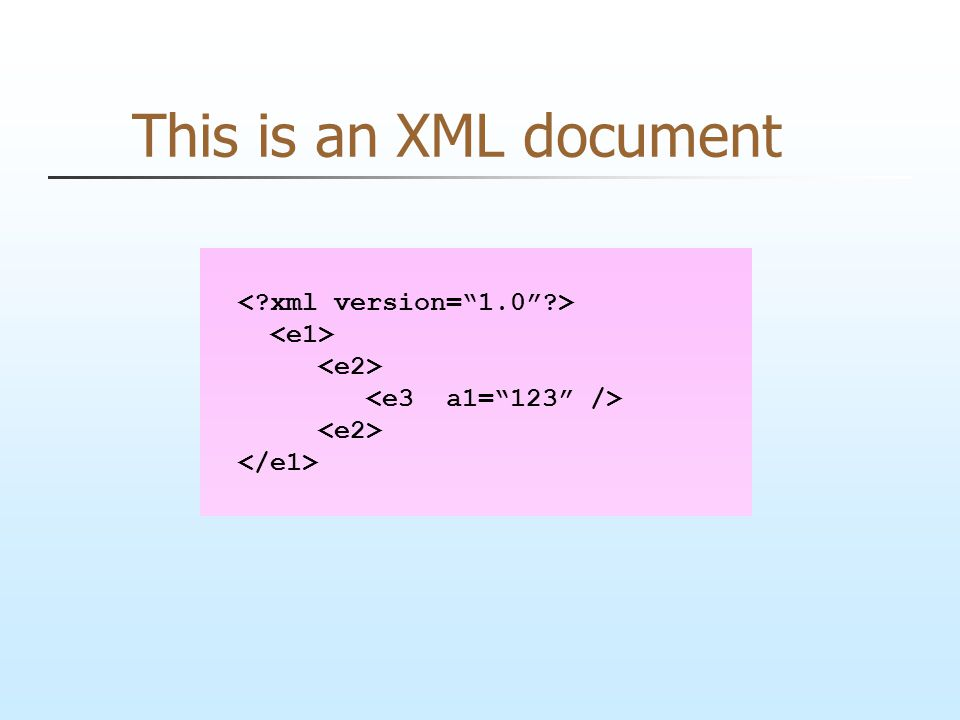 This is an XML document