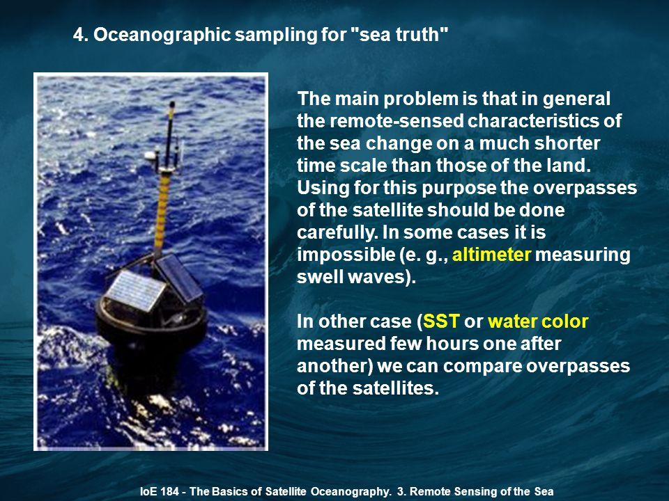 4. Oceanographic sampling for