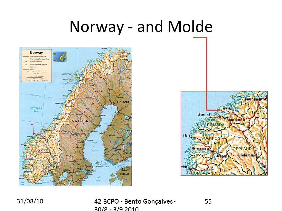 31/08/1042 BCPO - Bento Gonçalves - 30/8 - 3/9 2010 Norway - and Molde 42 BCPO - Bento Gonçalves - 30/8 - 3/9 2010 55