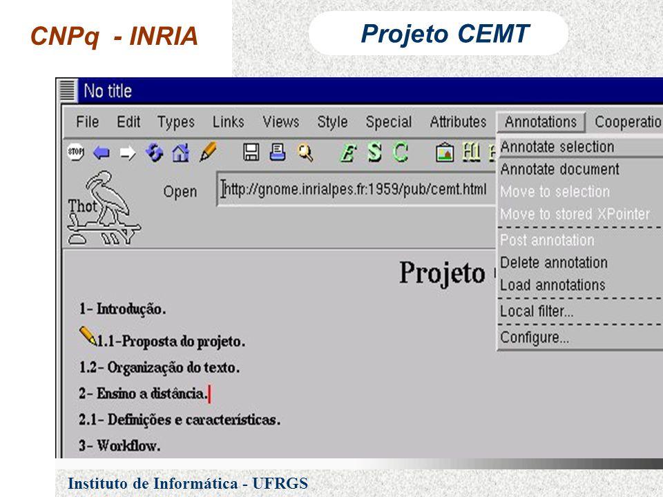 CNPq - INRIA Projeto CEMT Instituto de Informática - UFRGS