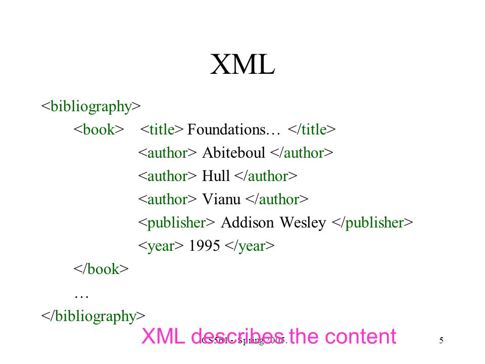 CS561 - Spring 2005.16 Local and Global Types in XML Schema Local type: [define locally the person's type] Global type: [define here the type ttt] Global types: can be reused in other elements