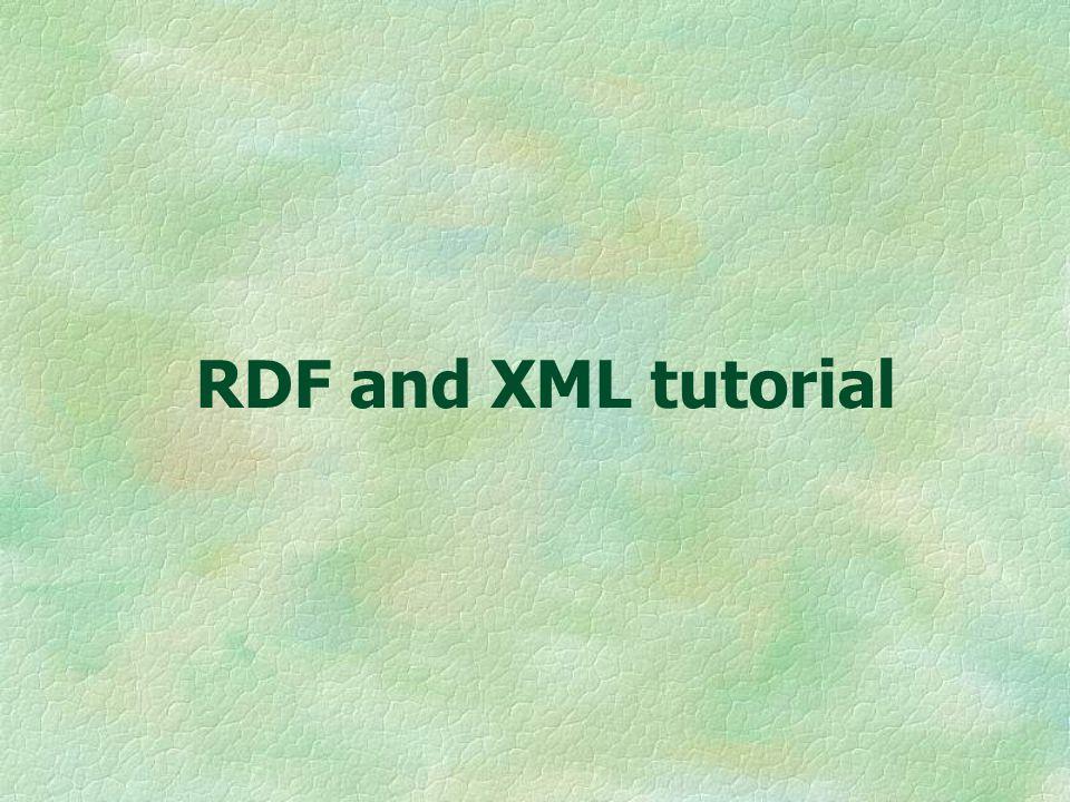 RDF and XML tutorial