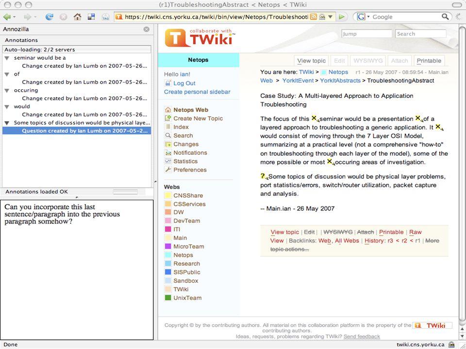 29 urn:annot1541202659 NS3:context subject predicate object Dissecting an Annozilla Annotation (2a) Ian Lumb NS4:creator predicateobject https://twiki.cns.yorku.ca/twiki/bin/view/Netops/TroubleshootingAbstract# xpointer (string-range (/html[1]/body[1]/div[1]/div[1]/div[1]/div[1]/div[1]/div[1]/div[1]/div[2]/div[4]/div[1]/p[1], , 337, 139))
