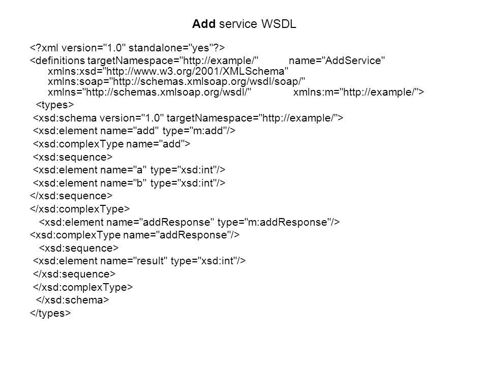 Add service WSDL