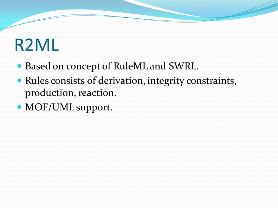 W3C RIF Facilitate rule exchange.Dialects. Basic Logic Dialect(RIF-BLD) ↔ Horn Rule Language.