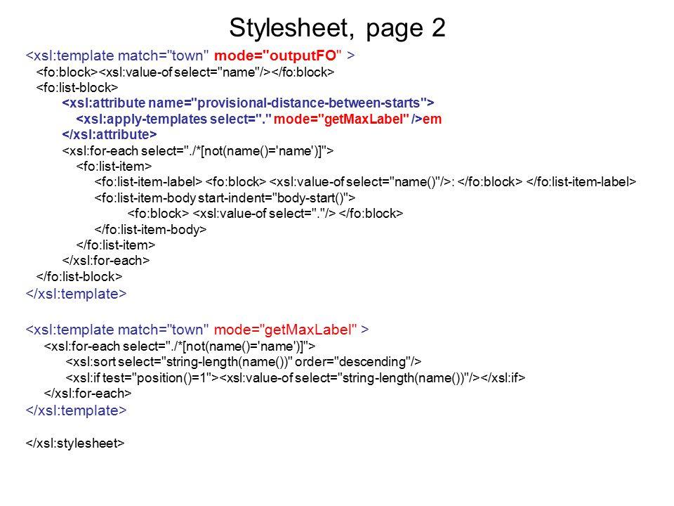Stylesheet, page 2 em :