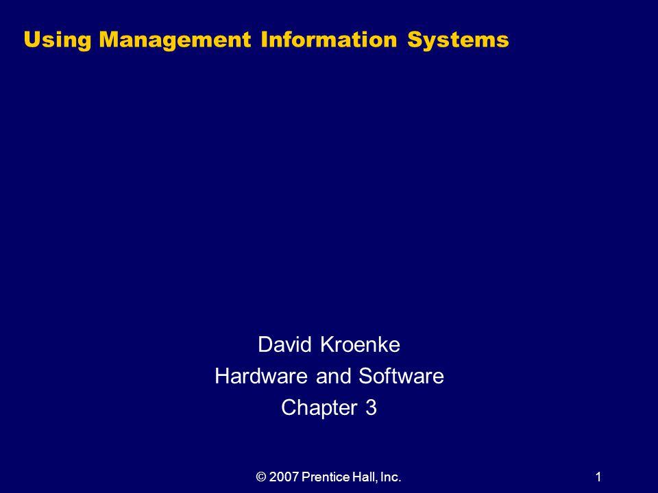 © 2007 Prentice Hall, Inc.22 Figure 3-5 Important Storage-Capacity Terminology