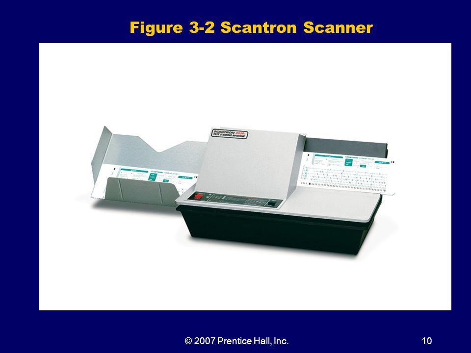 © 2007 Prentice Hall, Inc.10 Figure 3-2 Scantron Scanner