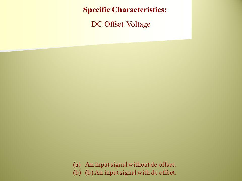 (a)An input signal without dc offset. (b)(b) An input signal with dc offset.