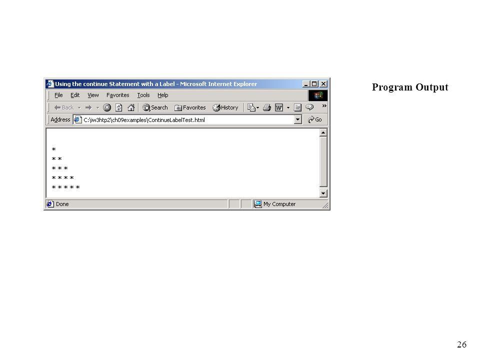 26 Program Output
