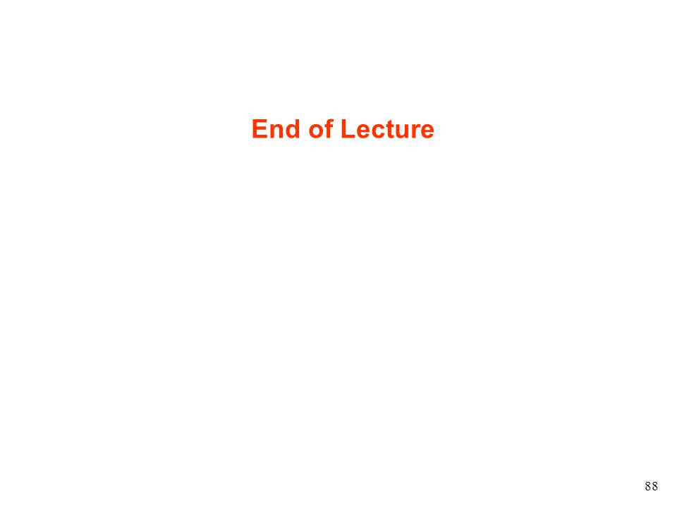 88 End of Lecture