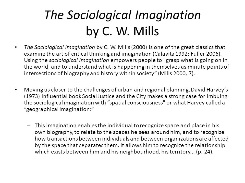 The Sociological Imagination by C. W. Mills The Sociological Imagination by C.