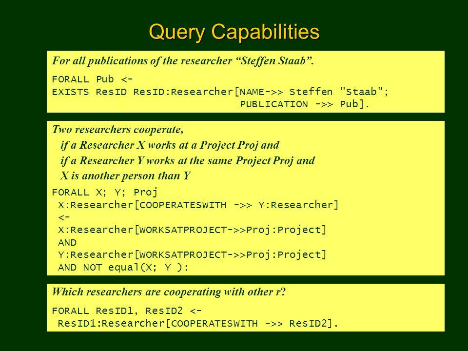 Semantic Web Portal43 Navigating and Querying the Portal Query the portal using F-Logic is too inconvenient.