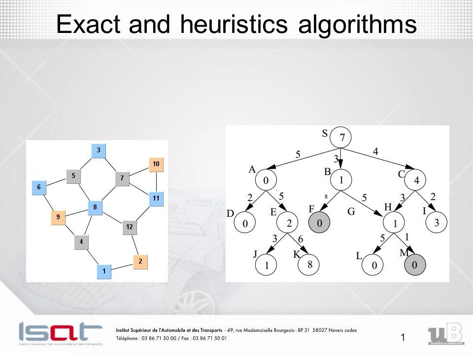 1 Exact and heuristics algorithms