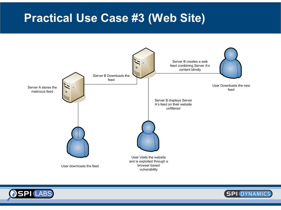 Practical Use Case #3 (Web Site)