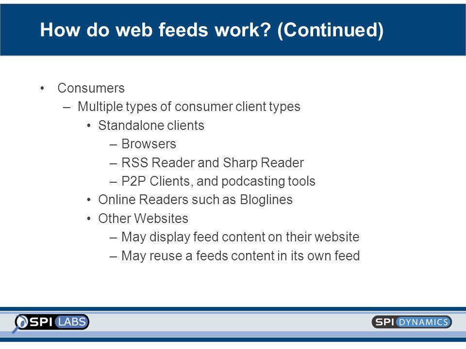 How do web feeds work.