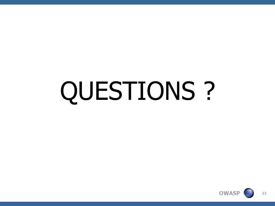 OWASP 22 QUESTIONS