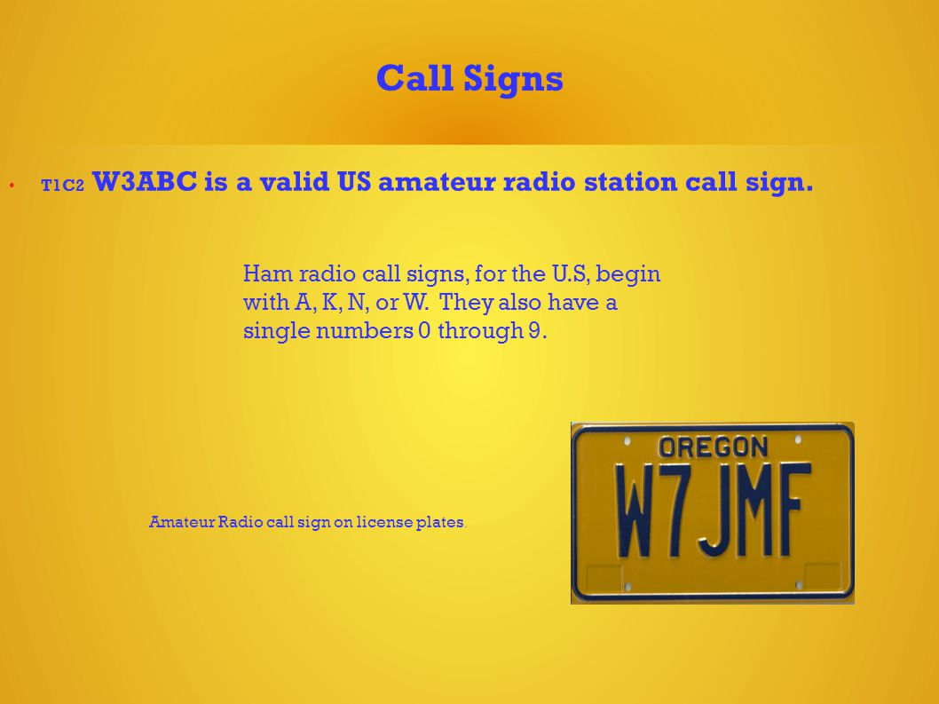 Call Signs T1C2 W3ABC is a valid US amateur radio station call sign.