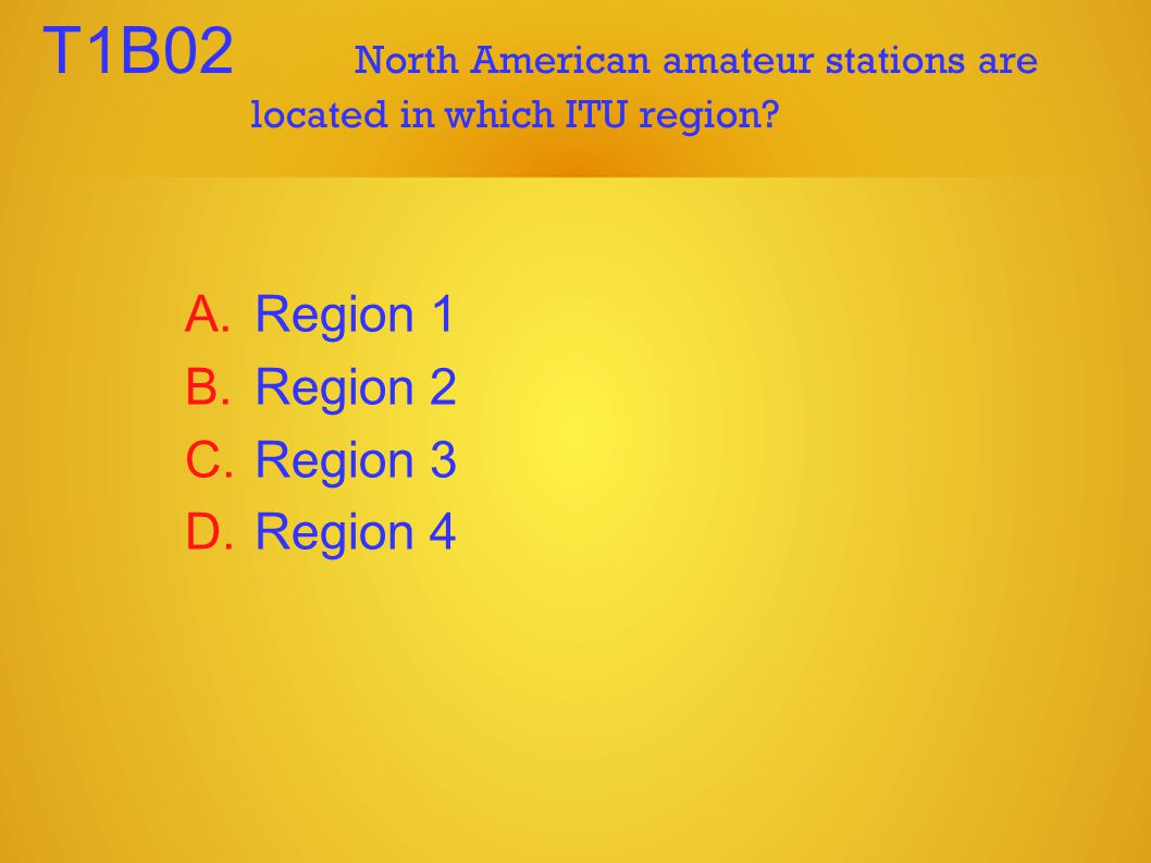 T1B02 North American amateur stations are located in which ITU region.