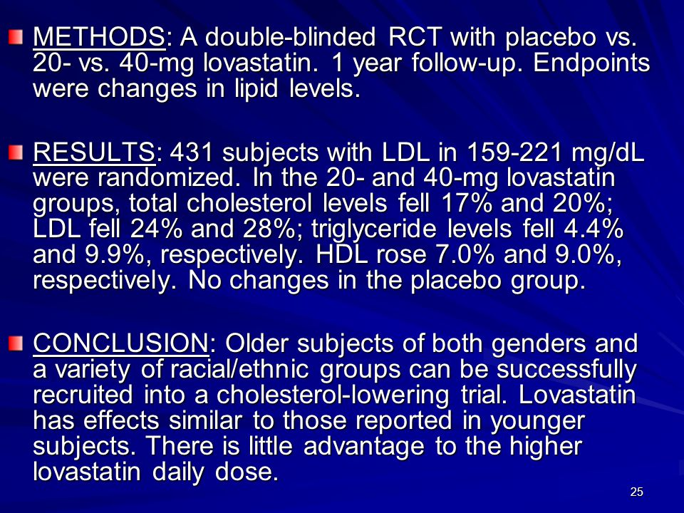 25 METHODS: A double-blinded RCT with placebo vs. 20- vs.