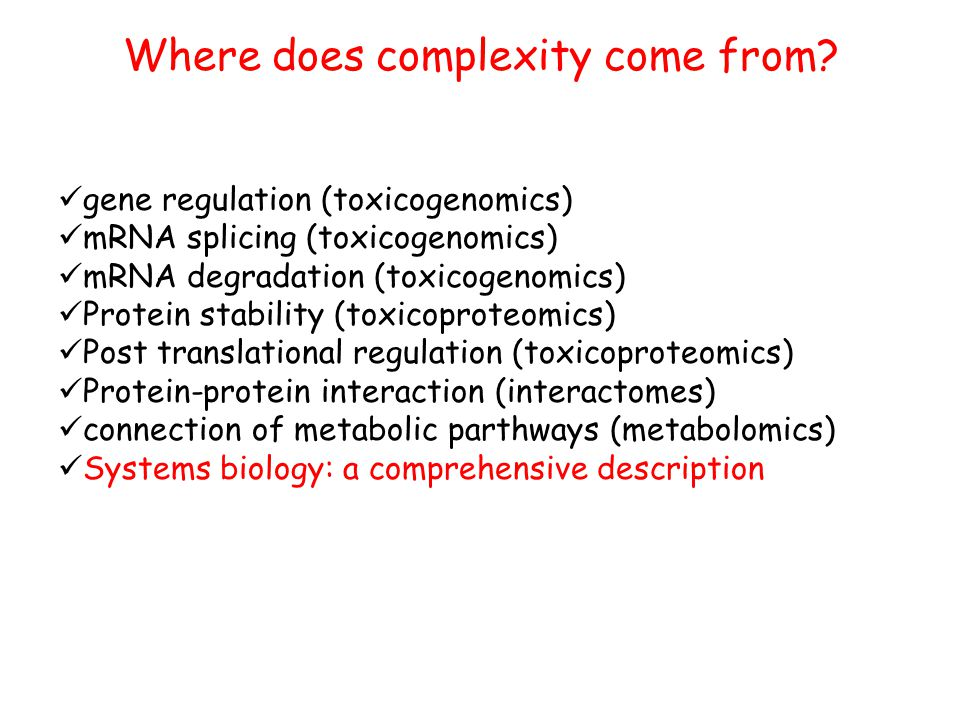 Where does complexity come from.