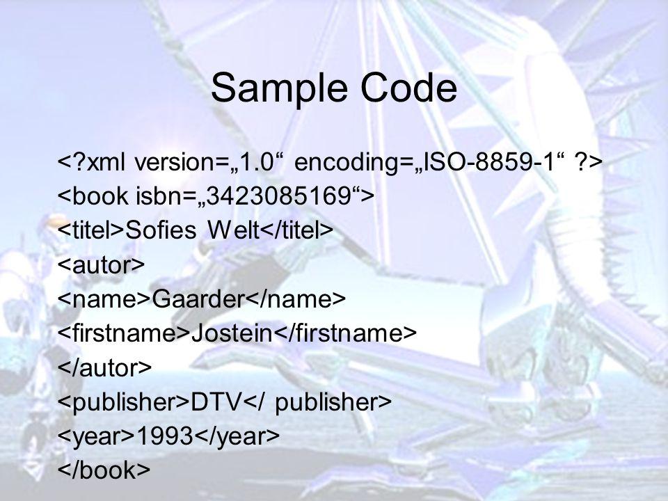 Sample Code Sofies Welt Gaarder Jostein DTV 1993