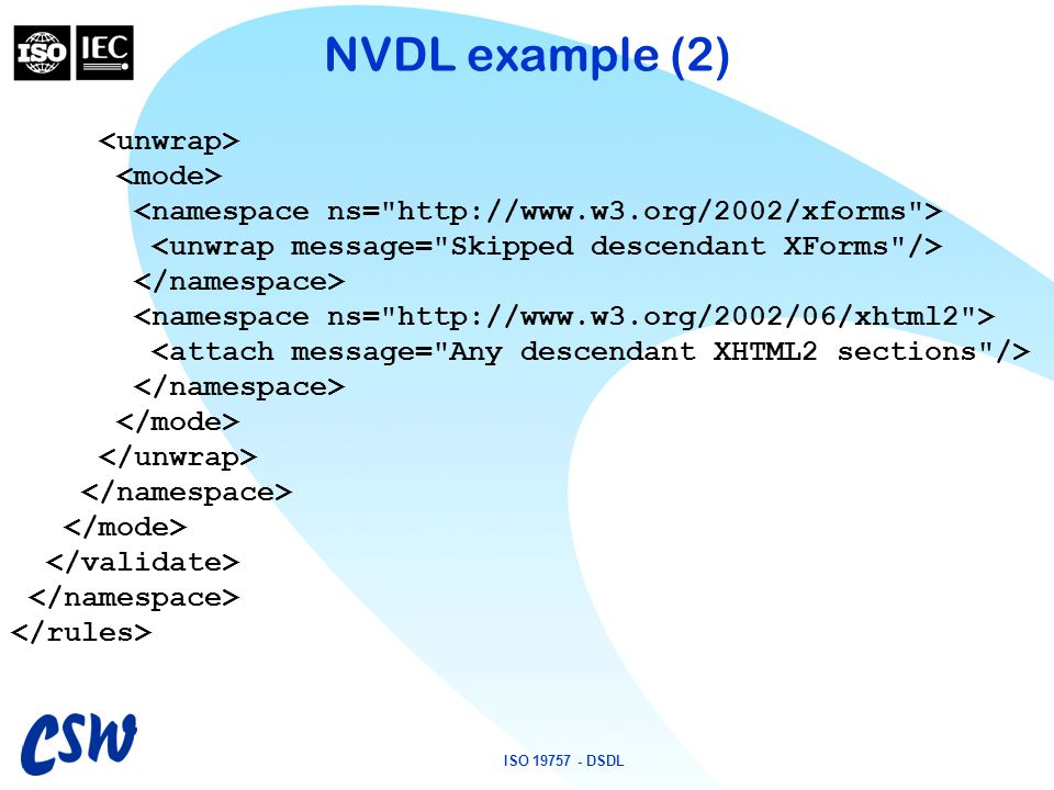 ISO 19757 - DSDL NVDL example (2)