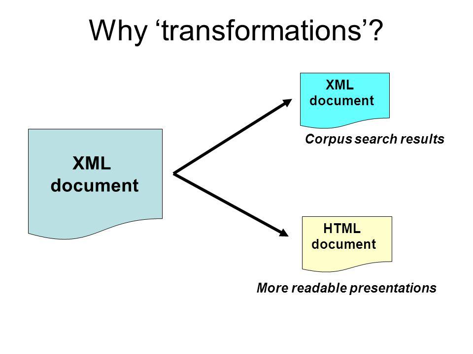 (1) Take an XML file… e.g., a play….