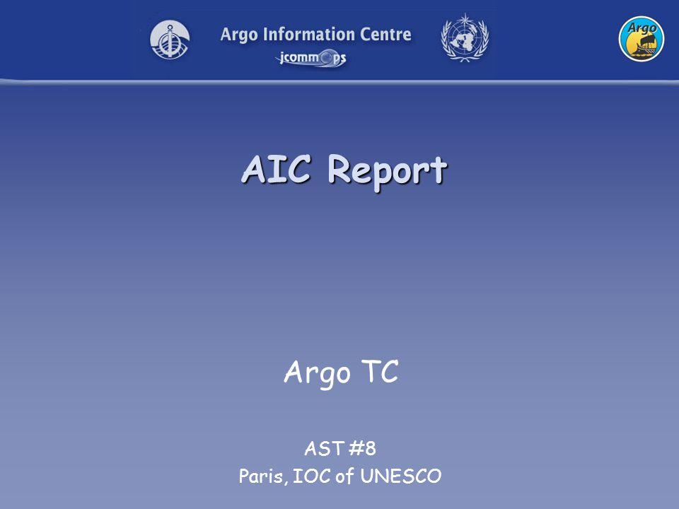 AIC Report Argo TC AST #8 Paris, IOC of UNESCO