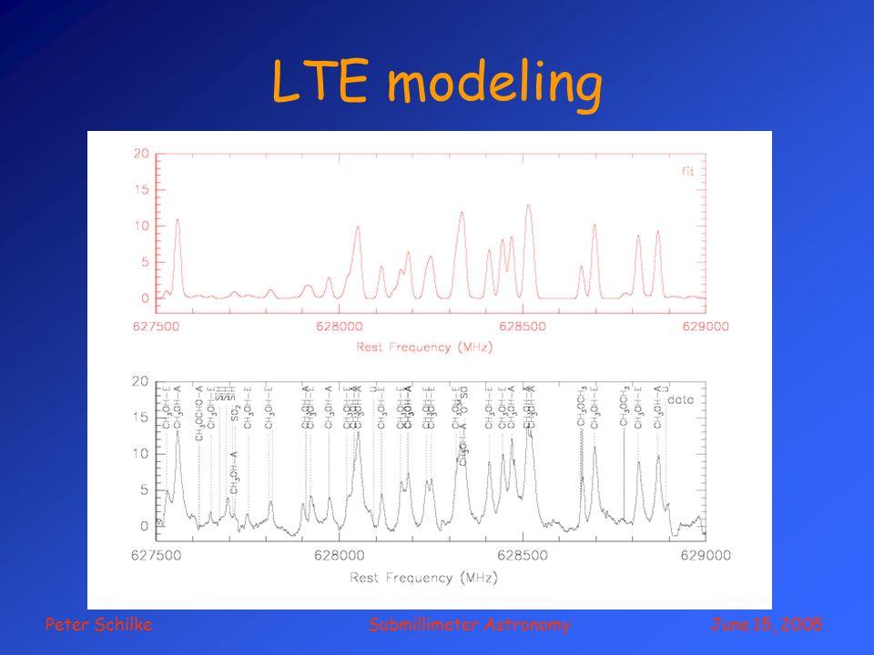 Peter Schilke Submillimeter Astronomy June 15, 2005 LTE modeling