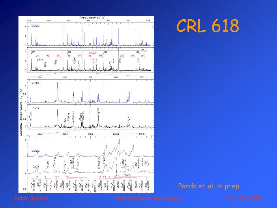 Peter Schilke Submillimeter Astronomy June 15, 2005 CRL 618 Pardo et al. in prep