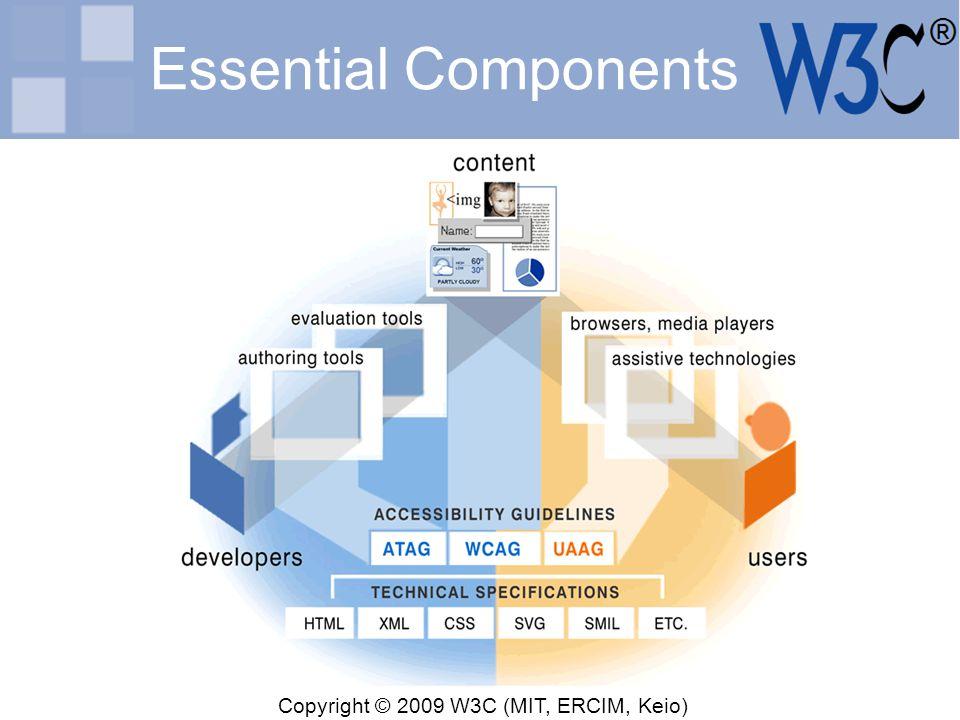 Copyright © 2009 W3C (MIT, ERCIM, Keio) Essential Components