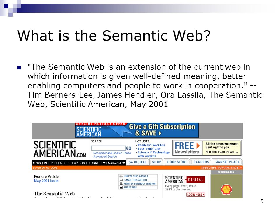 5 What is the Semantic Web?