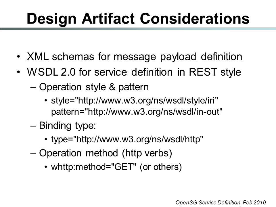 OpenSG Service Definition, Feb 2010 Consumption XML Schema Consumption.xsd