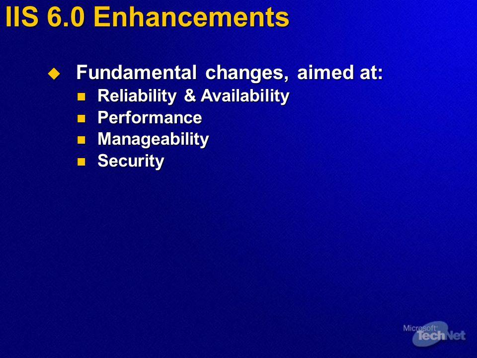 IIS 6.0 Reliability & Availability