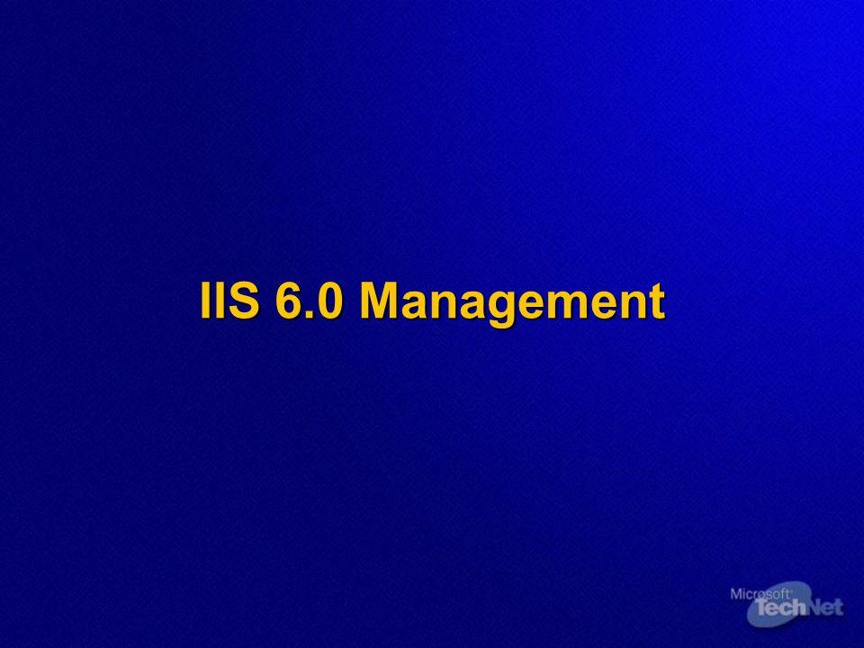 IIS 6.0 Management
