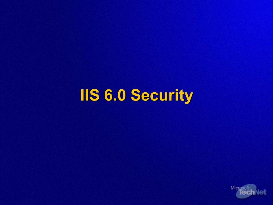 IIS 6.0 Security