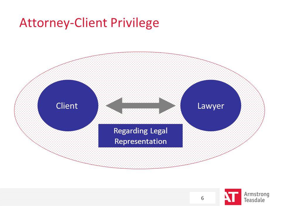Attorney-Client Privilege ClientLawyer Regarding Legal Representation 6