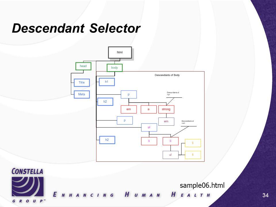 34 Descendant Selector sample06.html