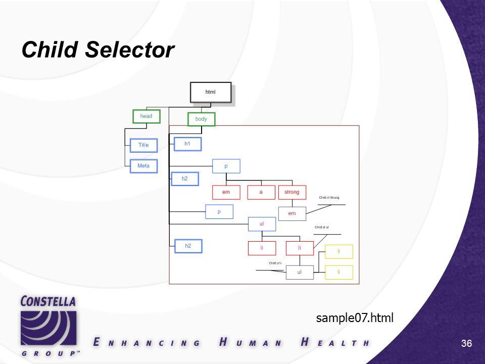 36 Child Selector sample07.html