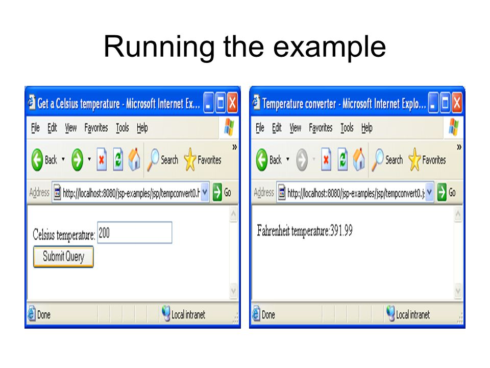 Running the example