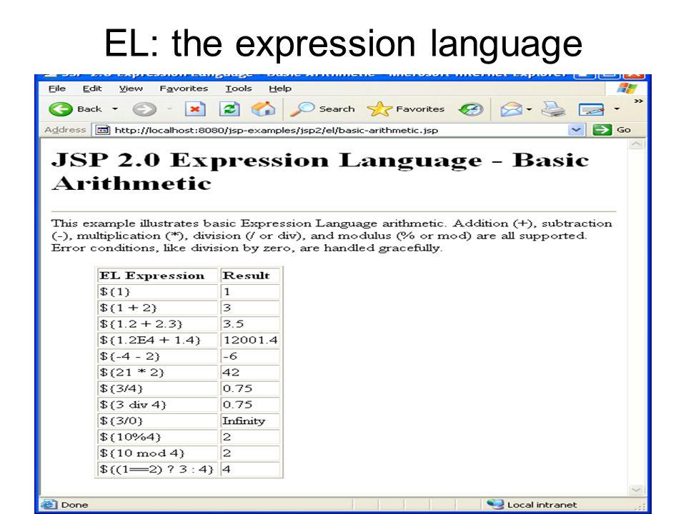EL: the expression language
