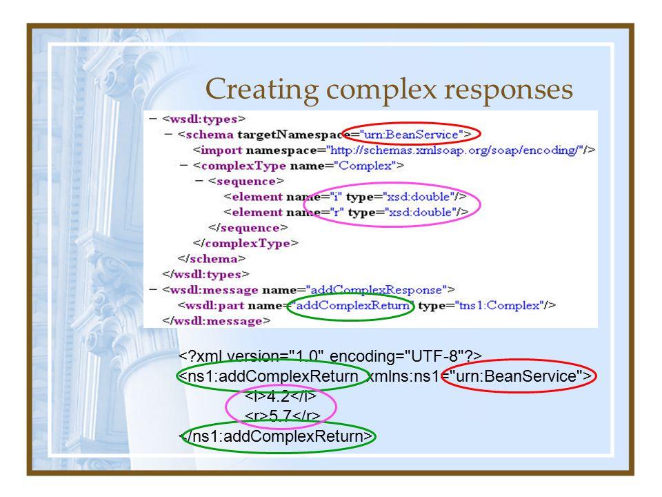 Creating complex responses 4.2 5.7